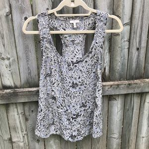 Joie pretty Forest Animal Sequin Tank gray silk M
